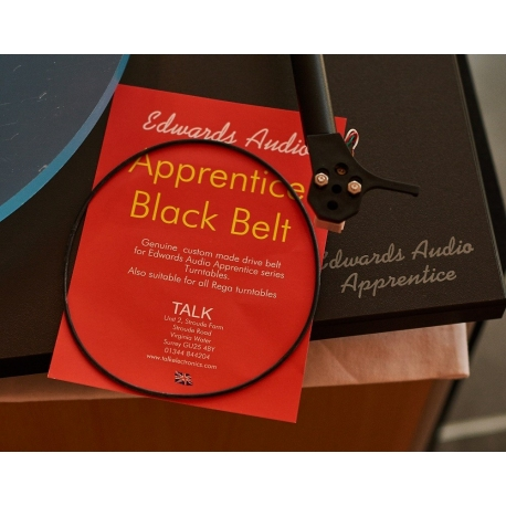 Edwards Audio Apprentice Black Belt, direct replacement for Rega turntable belts