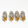 MPS set of 4 8mm RCA plugs