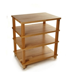 Hi Fi Racks Podium Slimline 4 Tier Rack in Oak finish