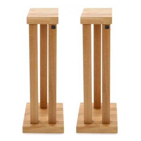 Hi-Fi Racks Podium T5 3 Leg 600mm Speaker Stands in Oak